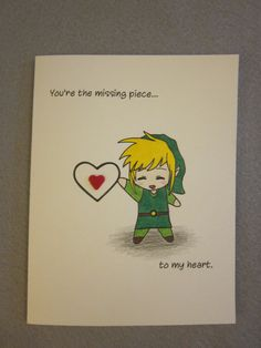 Zelda Inspired Love Card by ABitofImagination ($4.95)