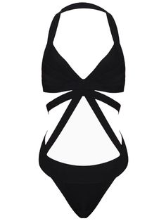 Black Halter Swimsuit