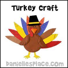 Turkey Paper Plate Craft from www.daniellesplace.com
