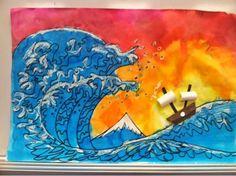 The great wave off Kanagawa- Hokusai - reproductions grade 4