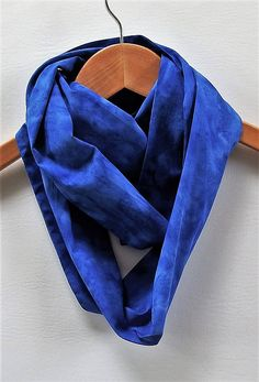 Cobalt Blue Infinity Scarf 4.5 Wide 70 Loop