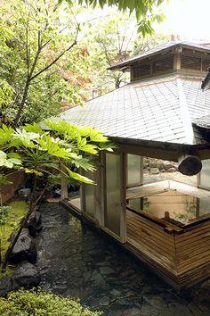 高野槙露天風呂 | 温泉 | 熱海温泉 大月ホテル和風館《公式》