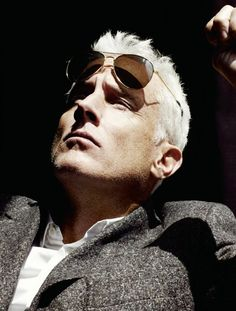 John Slattery in shades and wool.