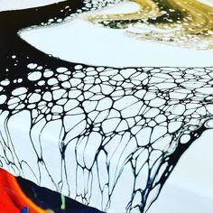 Acrylic formations on wood (micro environment) #fluidart #fluidpainting #acrylic #resin #fluidacrylic #art #colour #abstract #surreal…
