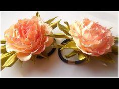 Цветы из фоамирана - Розы МК на резинке. DIY FOAM FLOWERS