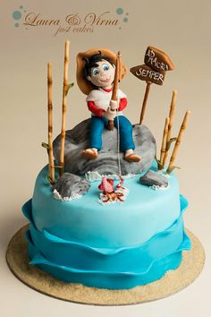 Sampei the fisherman cake - by Laura e Virna just cakes @ CakesDecor.com - cake decorating website