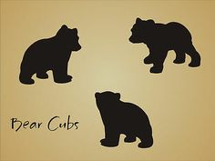 STENCIL Bear Cub Shape Rustic Animal Mountain Outdoor Lodge cabin craft art sign in Crafts, Art Supplies, Decorative & Tole Painting Baby Bear Tattoo, Cubs Tattoo, Bear Stencil, Animal Stencil, Kirigami, Bear Paw Print, Cabin Crafts, Wood Crafts, Stencils