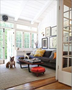 white peaked ceilings - would add character to hallway. Wood plank, beams.