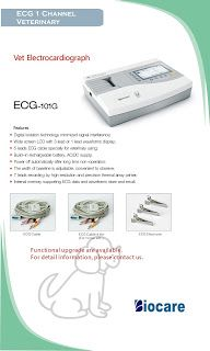 ECG 1 Channel Veterinary Biocare ECG-101G