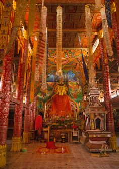 Buddhist Temple, Nam Deng, Laos