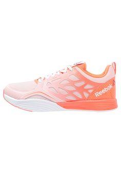 Reebok CARDIO INSPIRE - Sportschoenen - coral glow/coral/vitamin c/white - Zalando.be