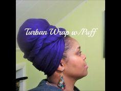 915: Turban Wrap w/Puff