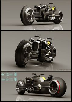 Ixlrlxi is a Russian concept artist who likes to model retro-futuristic-looking vehicles in SketchUp and render them with VRay. Concept Motorcycles, Cool Motorcycles, Motorcycle Design, Bike Design, Automobile, Futuristic Motorcycle, Retro Futuristic, Hot Bikes, Super Bikes