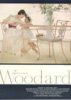 Woodard Wrought Iron Minuet Design Table Chairs (1957)