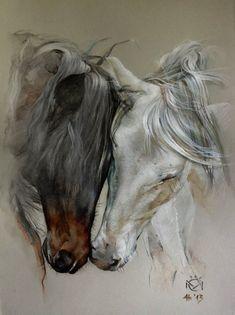 Discover thousands of images about Daniela Nikolova-Sidiropoulou Horse art Indio XLII & Entendido XXXIV - Caballos Mayoral Pretty Horses, Horse Love, Beautiful Horses, Horse Drawings, Animal Drawings, Art Drawings, Abstract Drawings, Abstract Art, Painted Horses