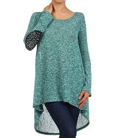 Jade Embellished Hi-Low Tunic
