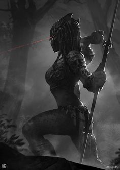 ArtStation - Female predator, mist XG