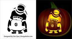 5 Free Halloween Minion Pumpkin Carving Stencils, Patterns, Ideas ...                                                                                                                                                     More