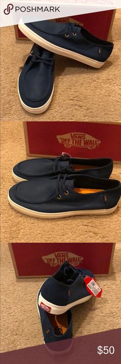 7c52339b02 Waxed Rata Vulc SF Vans New in box. Dress blues Vans Shoes Blue Vans Shoes