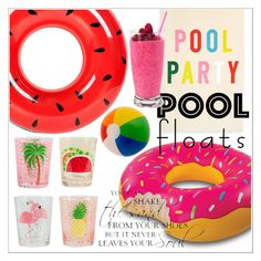 """""""pool party"""" by lovedreamfashion ❤ liked on Polyvore featuring interior, interiors, interior design, home, home decor, interior decorating, ban.do, Sunnylife, party and poolparty"""