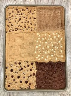Sheet Pan Cookie Bars by The BakerMama Peanut Butter White Chocolate, Classic Peanut Butter Cookies, White Chocolate Macadamia, Chocolate Chip Banana Bread, Chocolate Chips, Simple Cookie Dough Recipe, Cookie Dough Recipes, Cookie Flavors, Charcuterie Recipes