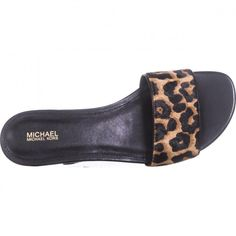 MICHAEL Michael Kors Mercer Slide Flat Sandals, Natural/Black    #michaelkors #sandals #flats #leopard #cheetah #animalprint #slides #slipons #spring #springstyle #springfashion #shoes #shopping #style #trending #fashion #womensfashion #love Flat Sandals, Flats, Spring Step, Trending Fashion, Cheetah, Spring Fashion, Slippers, Slip On, Michael Kors