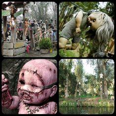 Island of Doll - Mexico #doll #dolls #mexico