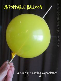 Relentlessly Fun, Deceptively Educational: Unpoppable Balloon Experiment