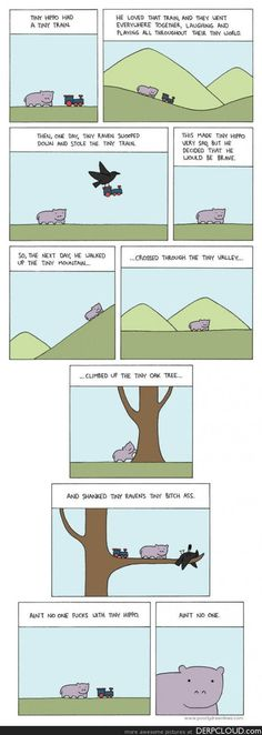 Tiny hippo aint no ones bitch #geek