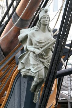 "HMS Surprise Bowsprit Figurehead  At San Diego Maritime Museum. Replica used in ""Master and Commander"""