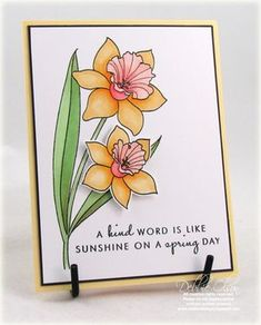 Introducing Year of Flowers: Daffodils - Thinking Inking