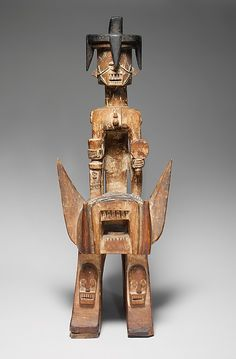 Personal shrines, known as ifiri in Ijo culture, are widespread in southern Nigeria. Such sculptures, dedicated to an individual's power, skill, and aggressiveness, are placed in screenlike fashion, accompanied by freestanding figures, on private altars. Shrine (Iphri) Date: 19th century