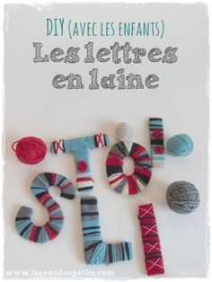 First name in wool without knitting Diy And Crafts, Crafts For Kids, Arts And Crafts, Childrens Rugs, Wedding Letters, Embroidered Bird, Christmas Hanukkah, Bird Ornaments, Felt Birds