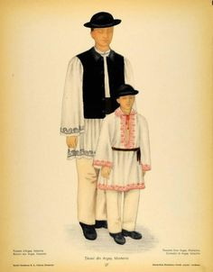 Arges, Muntenia (Wallachia) Folk Costume, Costumes, Fashion Illustration Vintage, Folk Embroidery, World Cultures, San Jose, Anthropology, Perception, Traditional Outfits