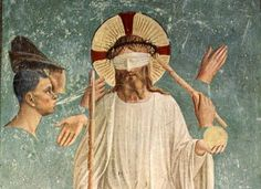 Fra Angelico, The Mocking of Christ (Detail) - 1443 on ArtStack #fra-angelico…