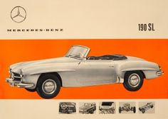 Mercedes Benz 190 SL, 1950s - original vintage car advertising poster listed on…