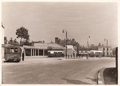Otley near Leeds - West Yorkshire - England - Bus Station 1936