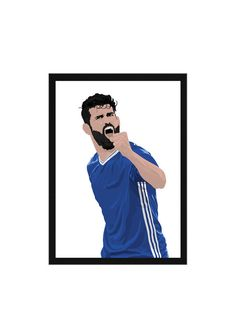 Diego Costa A3 Poster (297mm x 420mm) An A3 Poster of Chelsea and Spain striker, Diego Costa. All posters are printed on 160gsm paper and are sent in a mailing tube wrapped in acid free tissue paper. FRAME NOT INCLUDED.