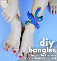 Bangles made from Toys and Starfish- fun kids craft for summer days!