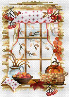Halloween pumpkin cross stitch.