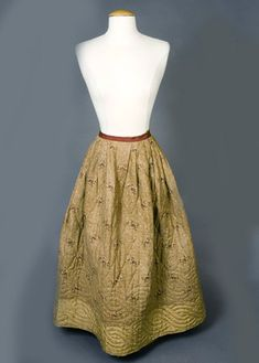 REVERSIBLE QUILTED PETTICOAT, FRANCE, 1800-1850