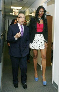 Jennifer Williams' White & Black Polka Dot Skirt & Blue Louboutins at NYC Press Conference