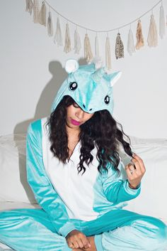"""""""I'm obsessed with this unicorn onesie from the H&M Halloween Collection available in store and online! And I can sleep in it if I choose to. Don't judge me."""" -@grasiemercedes   H&M OOTD"""