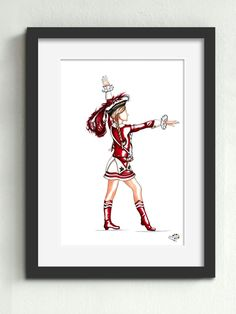 Funkemariechen Kölsche Funke rut-wieß vun 1823 e.V.  Das Tanzpaar der Roten Funken ist bekannt für seine besonders akrobatischen Hebungen. Das Funkemariechen bereitet sich in diesem Moment darauf vor, gleich Anlauf zu nehmen und sich von ihrem Tanzoffizier in die Luft heben zu lassen.