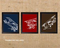Nursery or Playroom Art Prints Airplanes Art by SIMPLEHOMELIVING, $47.00