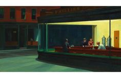 Edward Hopper Nighthawks, 1942 Edward Hopper's statement on the loneliness of city life has been re-created by fellow artists, musicians, and moviemakers, but the simple elegance of his original piece, which was sold to the Art Institute of Chicago for $3,000 shortly after its completion, has yet to be matched.