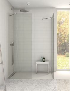 Have it your way - available in a varity of size combinations.Walk in wetroom enclosure with a very open minimalist expression.