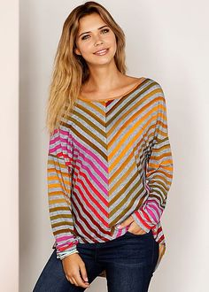 Asymmetric Print Top in Multi | VENUS