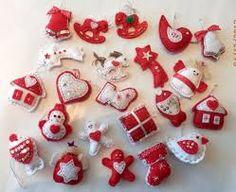 Výsledok vyhľadávania obrázkov pre dopyt šité vianočné ozdoby strihy vence