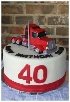 Semi Truck Birthday Cake by Max Amor Cakes.                              …                                                                                                                                                                                 More